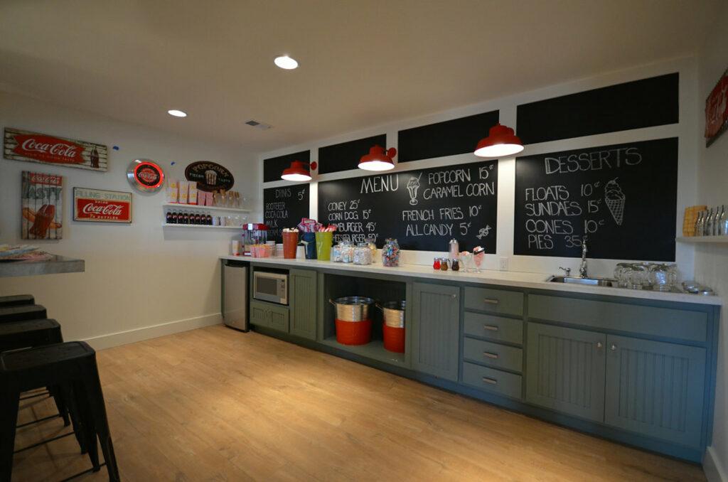 farmhouse basement with quick step malted tawny oak laminate