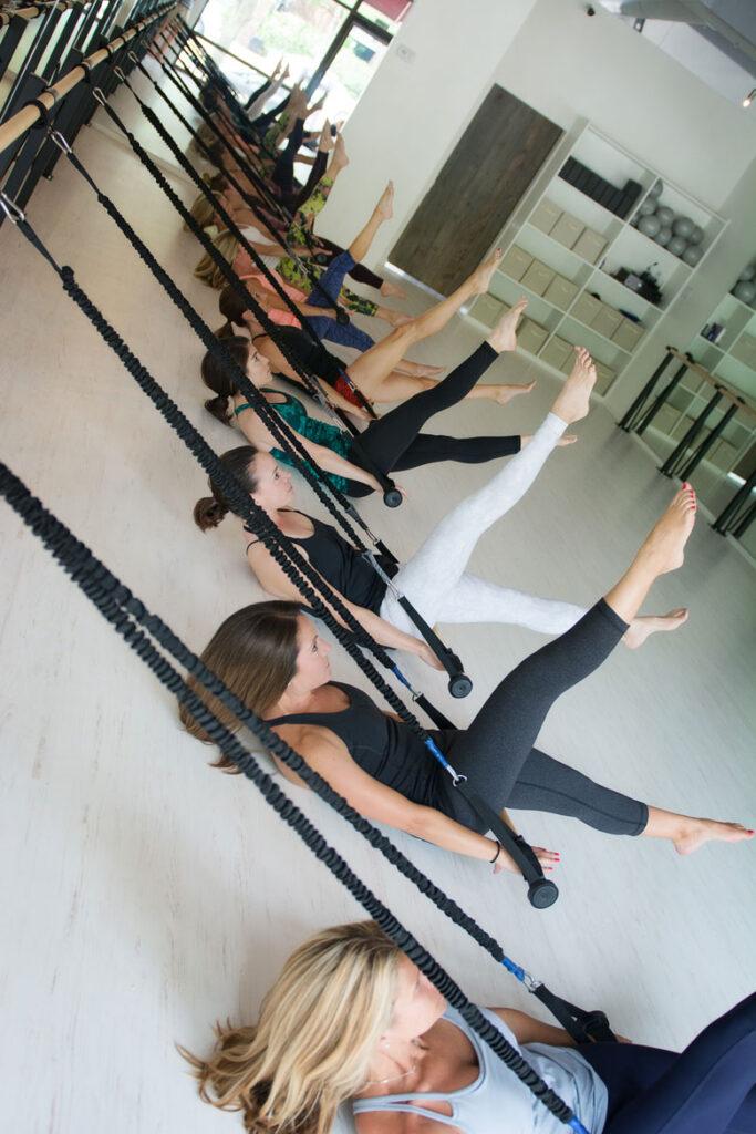 fitness studio with White Quick-Step Laminate Floors